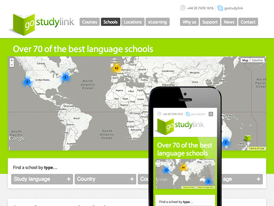 Part of gostudylink's schools section page