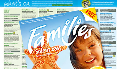 Example pages of Families Solent East issue 23